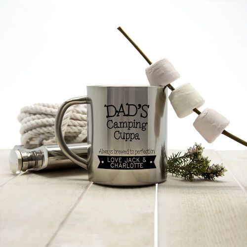 Personalised Dad's Cuppa Brewed To Perfection Outdoor Mug